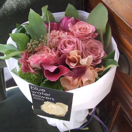 アンティークカラーの花束(¥5000)
