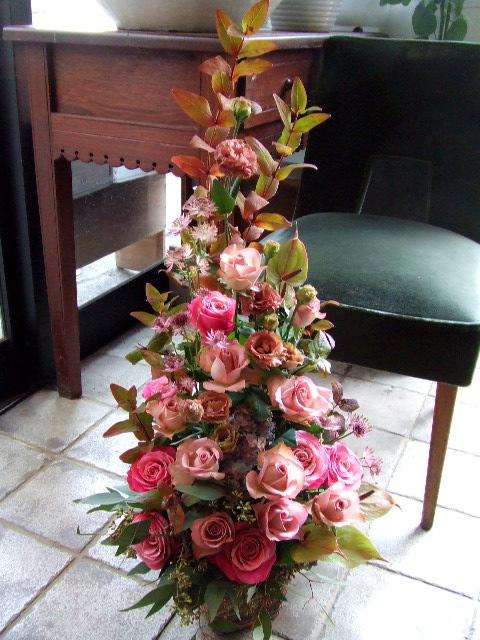 薔薇のツリーアレンジメント(¥20000)
